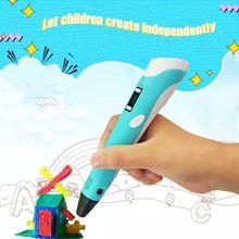 Myriwell 3d caneta 3d canetas, presente de ano novo 1.75mm abs/pla filamento, modelo 3d, 3d caneta mágica, crianças presente de aniversário presente de natal
