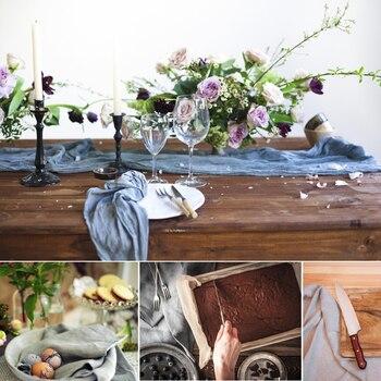 Imitation linen table runners tabl