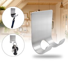 Get more info on the Practical Stainless Steel hooks self-adhesive Multifunctional Razor Holder Plug Storage Kitchen Door Wall Home Sticking Hook