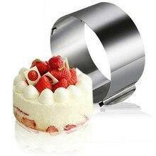 Adjustable Mousse Ring Round Mold Border Paste Film Kitchen Accessory DIY Baking Cake Tools Dessert Decoration