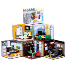 купить XINGBAO 01401 Street View Building Blocks The Living House Set Building Bricks Educational Toys Compatible with LOGO blocks toys по цене 950.37 рублей