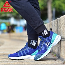 PEAK Men Cushion Running Shoes Lightweight Breathable Mesh Sneakers Leisure Lifestyle Sports Shoes Fitness Sneakers li ning men s cushion running shoes breathable textile sneakers support tpu lining sports shoes arhm057 xyp478
