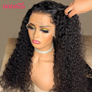 Curly Human Hair Wigs 150 180 250 Density Lace Wig Pre Plucked Lace Front Human Hair Wigs Pixie Cut Wig 13x4 Short Bob Wig Remy(China)