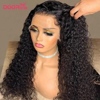 Kıvırcık insan saçı peruk 150 180 250 yoğunluk dantel peruk ön koparıp dantel ön İnsan saç peruk Pixie kesim peruk 13x4 kısa Bob peruk Remy
