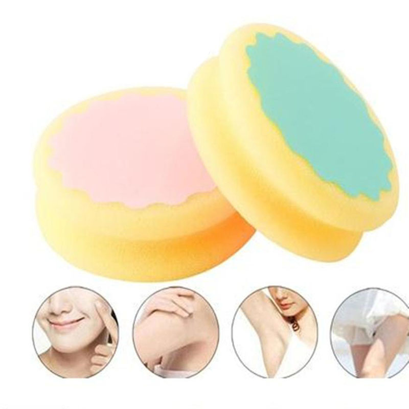 Painless Women Hair Removal Sponge Soft Cute Depilation Tools Skin Care Sponges Beauty Ladies Lovely Sponge For Hair Removal