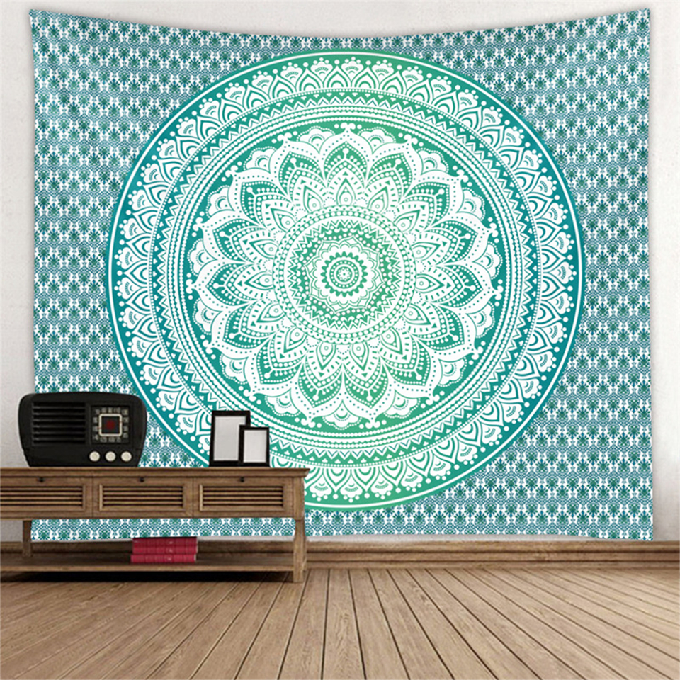 Hippie Bohemian Mandala Tapestry Wall Hanging India Ethnic Boho Decor Psychedelic Wall Carpet Sofa Blanket Travel Beach Yoga Mat