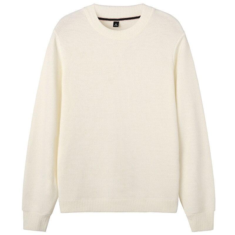 Новинка, мужские пуловеры с длинным рукавом, верхняя одежда, мужские свитера, топы, свободные, одноцветные, Вязанная одежда, зима, весна, тепл...