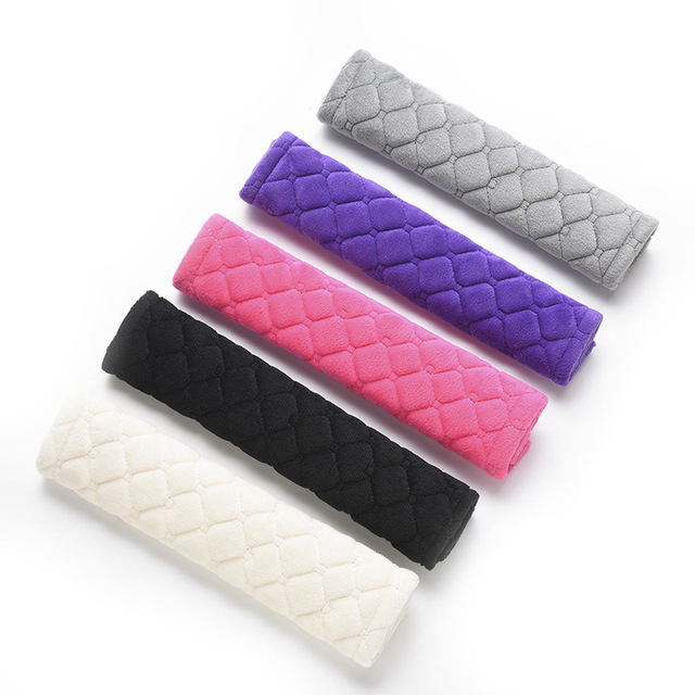 1pcs Seat Belt Covers Soft Velvet Car Shoulder Pad Car Truck SUV Airplane Carmera Backpack Straps for Adults Children Youth Kids