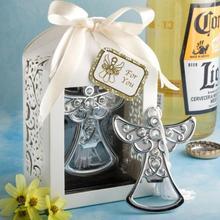 Free shipping 20pcs/lot Wedding Favors Angel Design & Cross shape Bottle Opener Favors bottle stopper;beer opener Party Favors