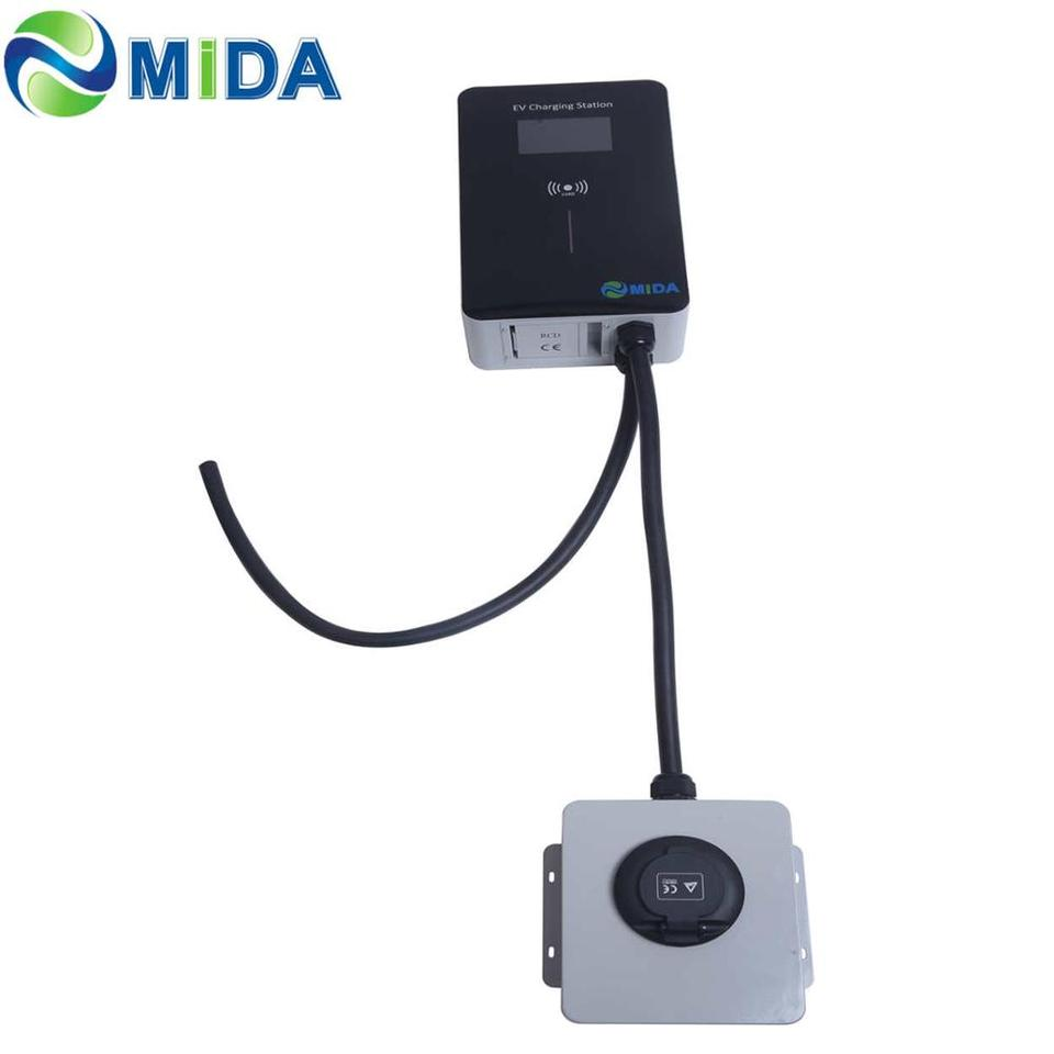 US $475.0 |MIDA EU Standard 16Amp 11KW EV Charger Station EVSE Wallbox LED Screen Electric Vehicle Car Charging Point with type 2 socket|Battery