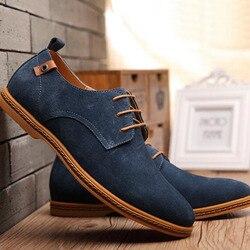 Homens casual vaca camurça respirável confortável sapatos de renda primavera outono ao ar livre usar massagem à prova dwaterproof água apartamentos baixa ajuda sapatos