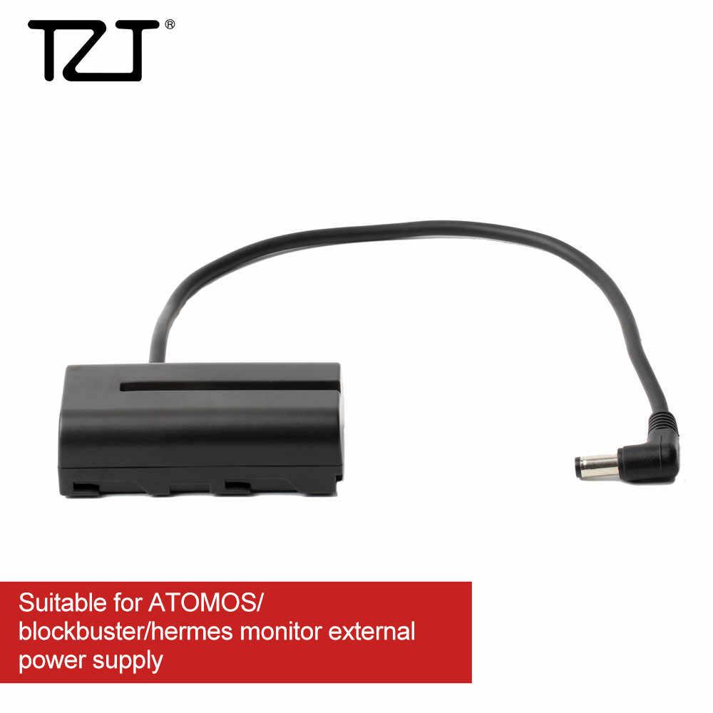 TZT adaptador de batería ficticia fuente de alimentación NP-F550 a CC para Atomos Aputure Bestview monitores