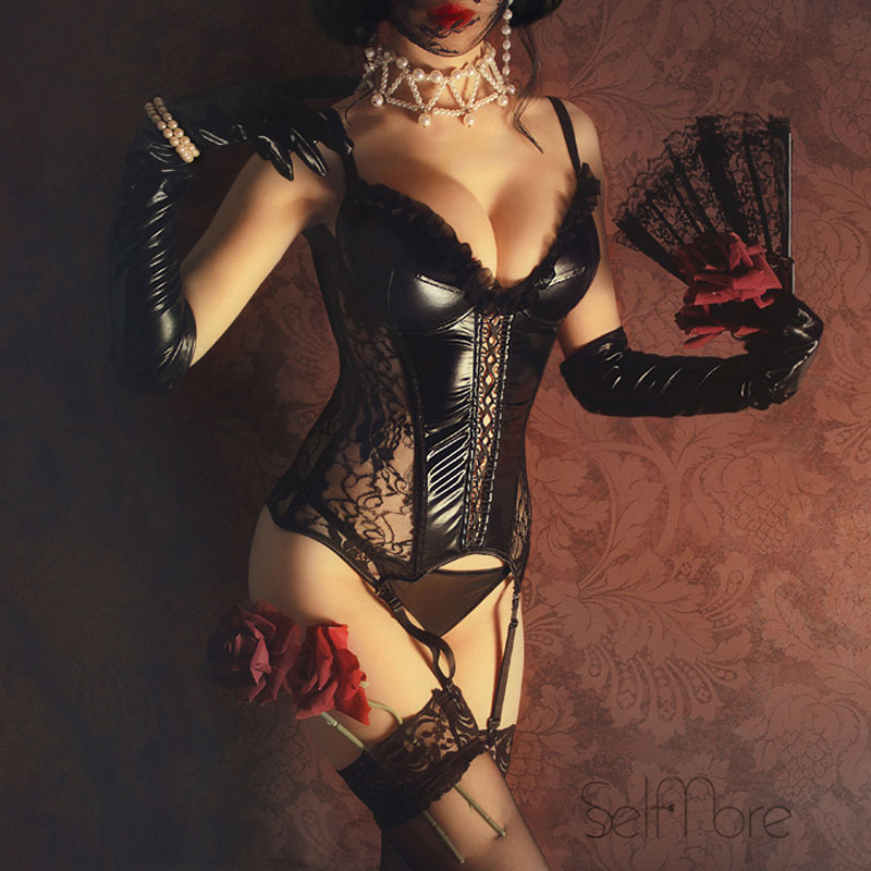 Plus Size Corsets Steampunk Bustiers sexy Lace Corset Top Gothic Style Women Burlesque Underbust Corselet Bodice Lingerie