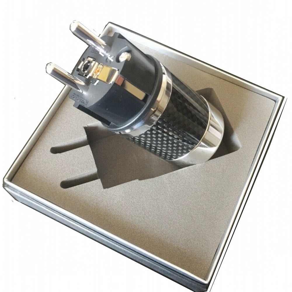 Hifi Furutech FI-E50 (R) FI-50 (R) Rhodium Schukostecker Edelstahl Carbon Plug Adapter