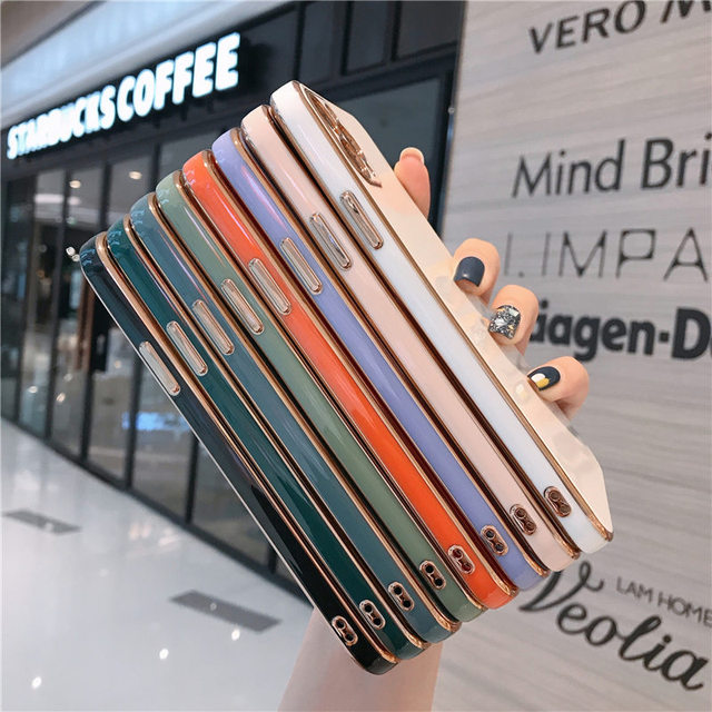 Luxury Gold Plated Electroplated Case For iPhone 11 Pro Max 8 Plus 7 XR XS X Silicone Lens Protection 12 Pro Max SE 2020 Cover 5