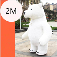 New Style Short Plush Inflatable Mascot Costume Panda Polar Bear 2M Tall Customize for Adult Suitable for 1.65m Height Mascots