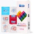MingLiu seis en sexo 24 piezas increíble condones Valor de alta calidad condones para caliente de las mujeres de los hombres juguete adulto del sexo