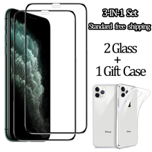 3-in-1 set Tempered Glass for iPhone 11Pro ultra-Thin Case gift iPhone 11 pro max glass film iphone11 screen protector 11 iphone 3 in 1 cristal templado for iphone 11 screen protector sticker glass on iphone 11 pro max clear back film for i phone 11 11pro