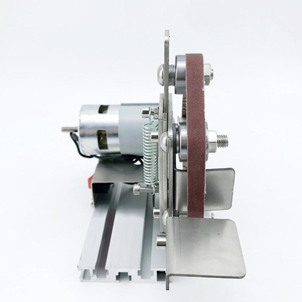Twilight Miniature Small Mini Belt Machine Diy Polishing Machine Grinding Machine Fixed Angle Sharpening Machine Blade Desktop