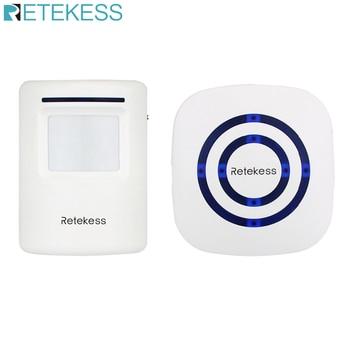 Campana de alerta de alarma inalámbrica con Sensor de movimiento PIR, Detector infrarrojo, Timbre de puerta de entrada de puerta de inducción para el hogar F9506B
