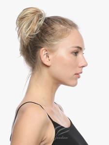 Hair-Bun Scrunchies-Wrap Ponytail Chignon Donut Straight Synthetic 1piece Elastic-Messy
