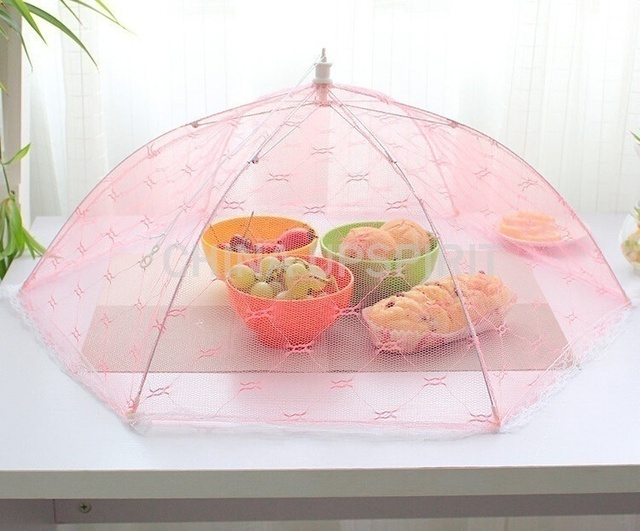 1PC Newest Umbrella Style Food Cover Anti Fly Mosquito Meal Cover Lace Table Home Using Food Cover Kitchen Gadgets Cooking Tools 6