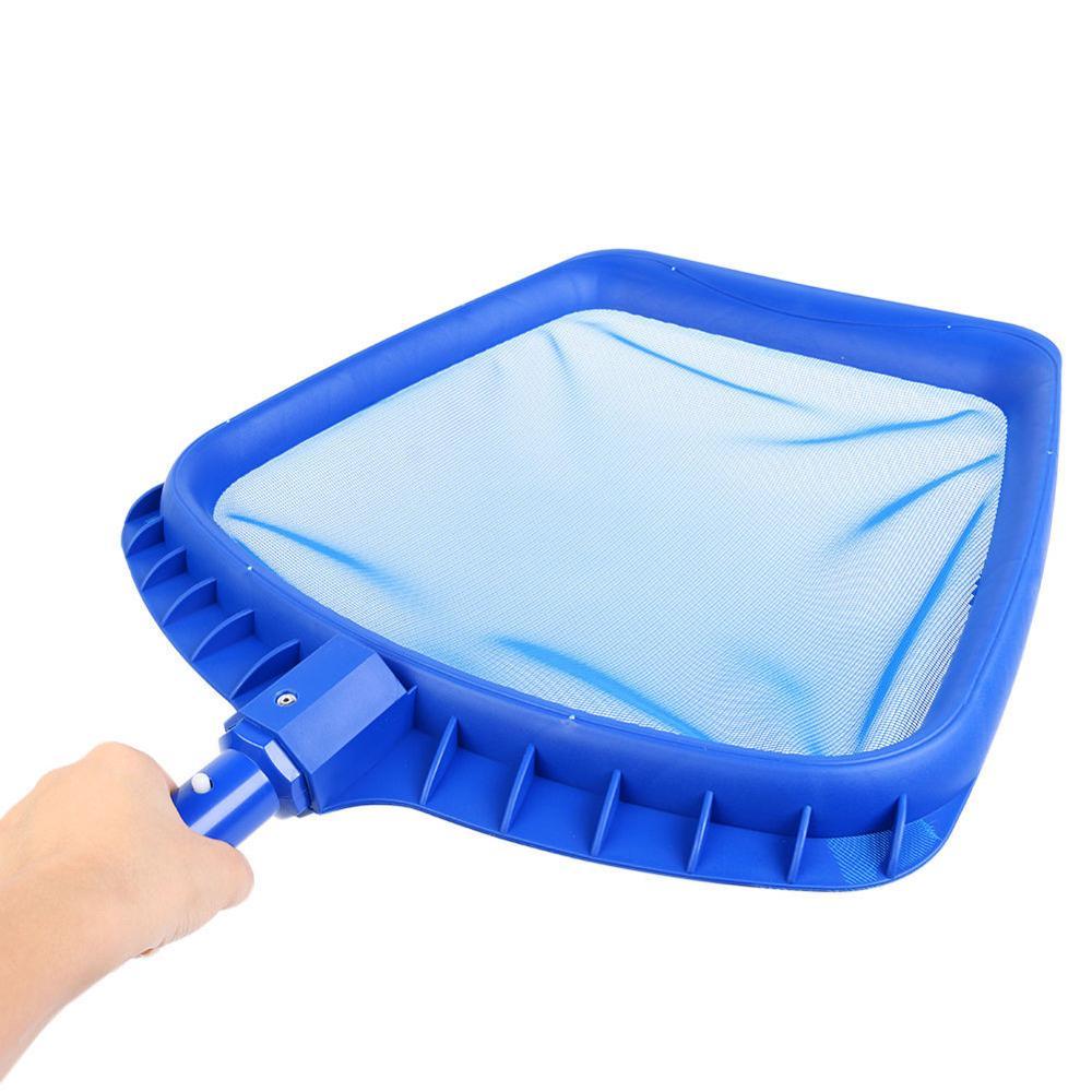 Бассейнов скиммер чистый лист дрянь сетку с глубоким сумка сетка с регулируемой телескопической штанги плавание очистители аксессуары