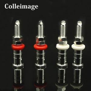 Image 1 - Colleimage Hifi audio 4 sztuk/zestaw srebrne miedziane głośnikowe oprawy głośnikowe złącza zaciskowe WBT style