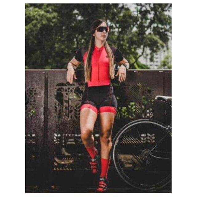 2020 mulheres profissão vermelho triathlon terno roupas ciclismo skinsuits maillot ropa ciclismo macacão das mulheres triatlon kits 2