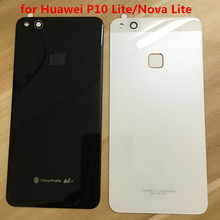 Battery Cover Back Glass Rear Door Housing Case + Fingerprint for Huawei