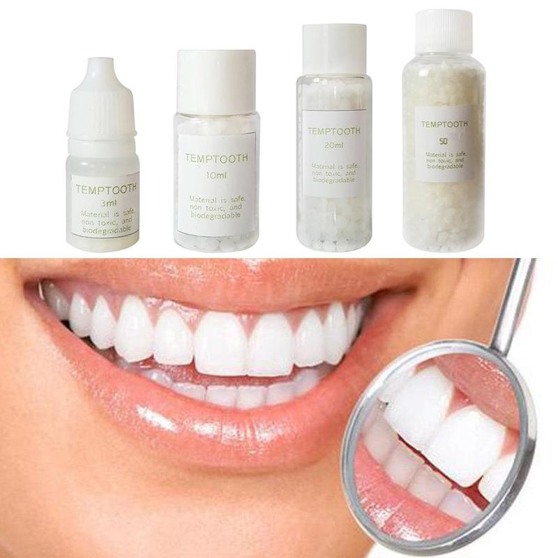 Fake Teeth Solid Glue Denture Adhesive Denture Solid Glue Dental Restoration Temporary Tooth Repair Kit Teeth Veneers And Gaps