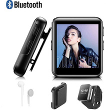 цена на Mini Clip MP3 Player Bluetooth with 1.5 Inch Touch Screen Portable MP3 Music Player HiFi Metal Audio Player with FM for Running