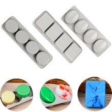 4 сетки силиконовые формы для мыла ручная работа производство мыла формы 3D DIY формы круглый квадратный пресс-формы для мыла забавные подарки