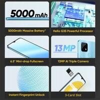 "realme C21 RMX3201 6.5"" Minidrop Fullscreen 3GB 32GB 13MP AI Triple Camera Helio G35 Octa Core 5000mAh Battery Mobile Phone 2"