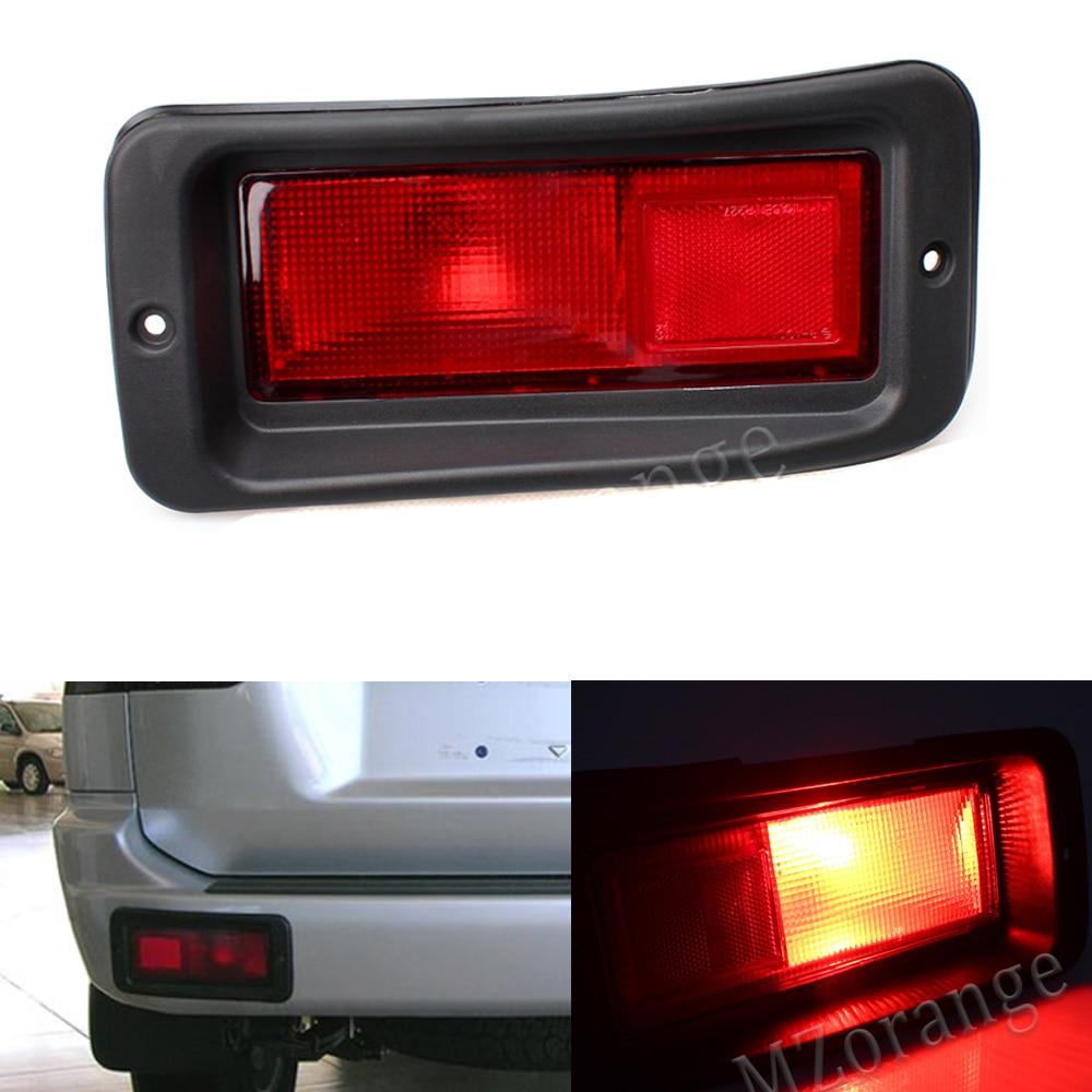 Задний бампер отражатель светильник для Mitsubishi Pajero Shogun Спорт для Challenger 2000-2008 тормозной светильник противотуманный сигнальная лампа светиль...