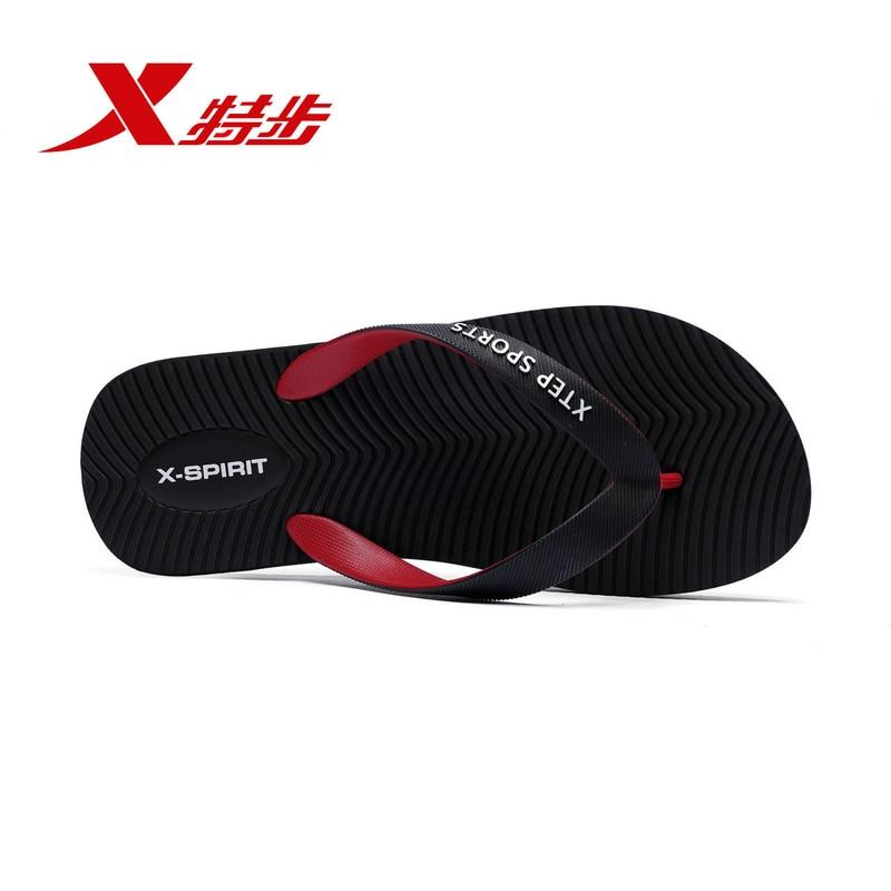 Xtep Men Sports Slippers Men 2019 Summer New Flip-flops Men's Authentic Official Sandals Men's Shoes Beach Shoes 882239809018