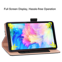 style protective For Lenovo Tab M7 TB-7305F Tablet Case Retro Style PU Leather Case Flip Stand Card Slots Protective Cover And Elastic Hand Strap (2)
