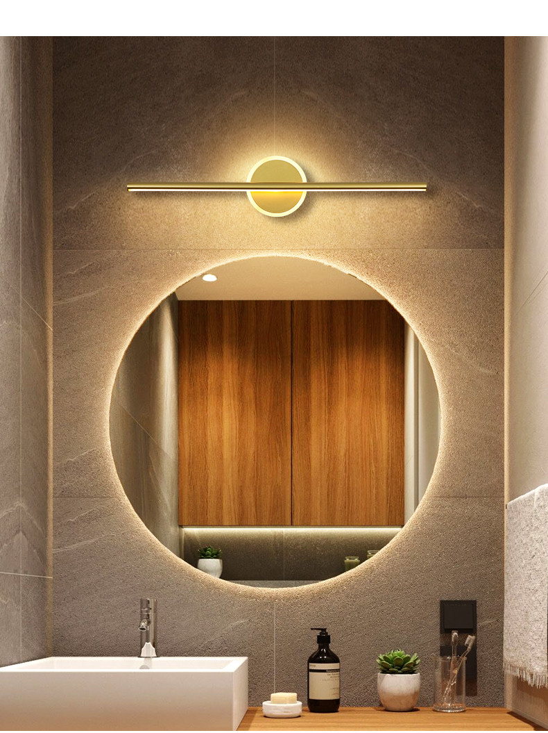 2020 Led Modern Wall Lights Bedside Lights Mirror Front For Living Room Bathroom Lamps Golden White Frame Led Wall From Hibooth 50 8 Dhgate Com
