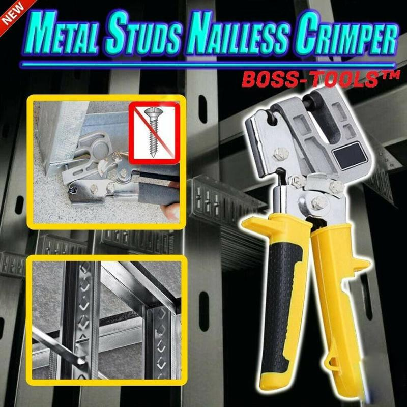 1PC Metal Studs Nailless Crimper Plaster Board Drywall Pliers For Fastening Metal Industrial Stud Decorative Crimper Plier Tool