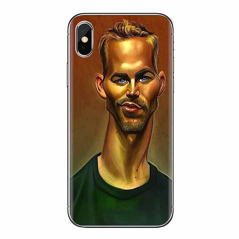 Voor iPhone XS Max XR X 4 4S 5 5 S 5C SE 6 6S 7 8 Plus samsung Galaxy J1 J3 J5 J7 A3 A5 Siliconen Tas Case Paul Walker Fast Furious