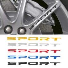 4PCS New SPORT Car Decal Sticker Wheels Rims Racing Car Sticker Emblem Logo Car Door Rims Wheel Hub Decal Auto Accessories Decor