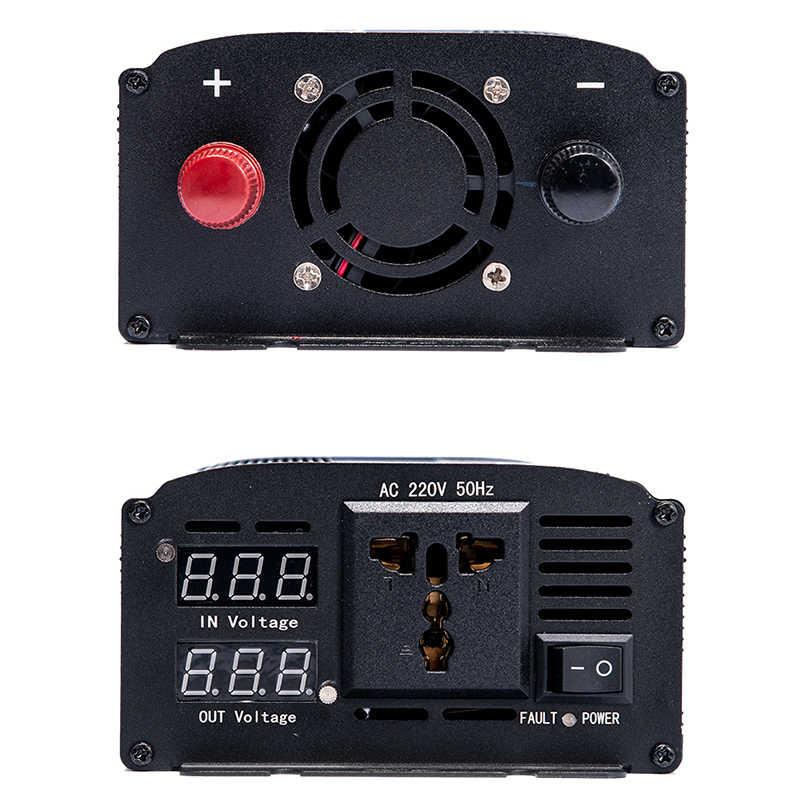 Inwerter 12 V, 220 V, 2000 W, 3000 W, 4000 W, konwersja 24V DC na 110V AC, czysta fala sinusoidalna, konwerter napięcia, miniprzetwornica samochodowa