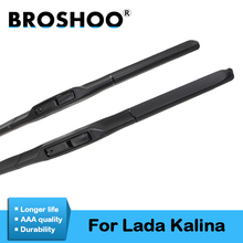 цена на BROSHOO Car Wiper Blades Soft Rubber For Lada Kalina Fit Standard Hook Arm 2004 2005 2006 2007 2008 2009 2010 2011 2012 2013