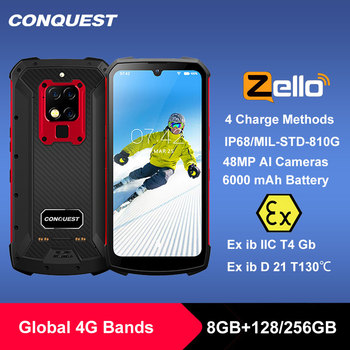 CONQUEST S16 /S16 ATEX IP68 Waterproof Rugged Smartphone Mobile Phone 6.3