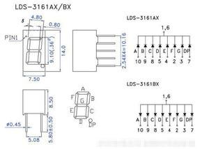 Image 3 - 8 шт. 7 сегментный светодиодный дисплей 0,36 дюйма 1 / 2 / 3/ 4 бит 2 шт. каждая общая Катодная/анодная цифровая трубка 7 сегментный светодиодный дисплей