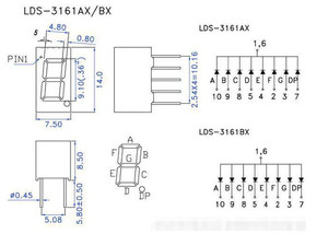Image 3 - 8 Chiếc LED 7 Đoạn Màn Hình Hiển Thị 0.36 Inch 1 / 2 / 3/ 4 Bit 2 Chiếc Mỗi Phổ Biến cực Âm/Anode Kỹ Thuật Số Ống 7 Phân Màn Hình Hiển Thị LED