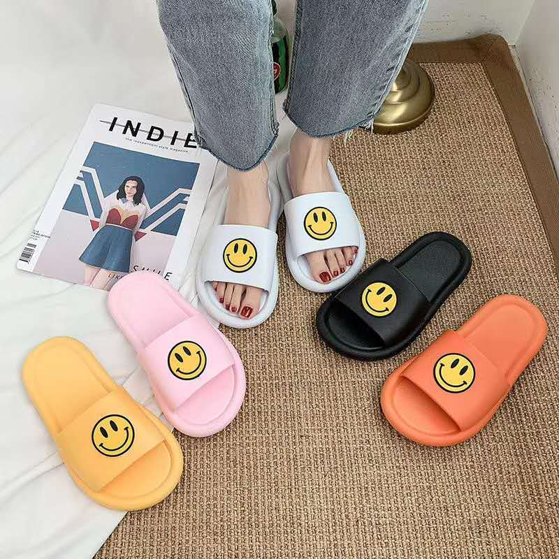 F Smile Smiley Slipper Women'S Summer Fashion Indoor Home Bath Couples Anti Ladies Slippers Cartoon Parent Child Sandals Woman