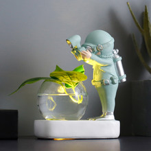 Astronaut Hydroponic Resin Decoration Plant Vase Creative Nordic Style Cafe Living Room Decoration Diver Plant Hydroponics Gift