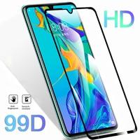 Protector de cristal 99D para pantalla de móvil, funda de película de vidrio templado para Huawei P20 Pro, P30, P10 Lite, Honor 10, 20 Lite