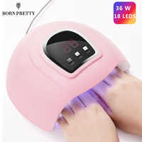BORN PRETTY Nail Dryer UV LED Lamp 36W/48W/54W Lamp For All Gel Polish Curing LCD Display Machine Drying Lamp Tool